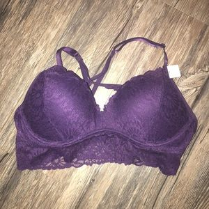 Purple PINK Bra
